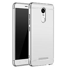 Custodia Lusso Metallo Laterale e Plastica Cover M01 per Xiaomi Redmi Note 3 Pro Argento