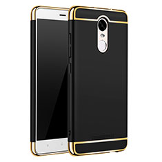 Custodia Lusso Metallo Laterale e Plastica Cover M01 per Xiaomi Redmi Note 3 Pro Nero