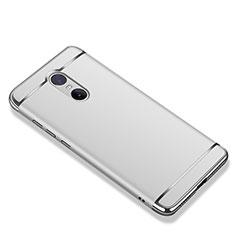 Custodia Lusso Metallo Laterale e Plastica Cover M01 per Xiaomi Redmi Note 4X High Edition Argento