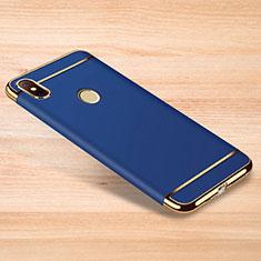 Custodia Lusso Metallo Laterale e Plastica Cover M01 per Xiaomi Redmi Note 6 Pro Blu