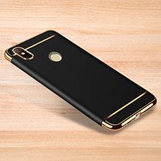 Custodia Lusso Metallo Laterale e Plastica Cover M01 per Xiaomi Redmi Note 6 Pro Nero