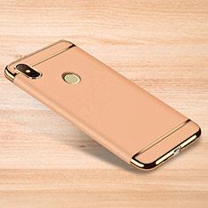 Custodia Lusso Metallo Laterale e Plastica Cover M01 per Xiaomi Redmi Note 6 Pro Oro