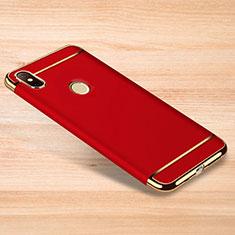 Custodia Lusso Metallo Laterale e Plastica Cover M01 per Xiaomi Redmi Note 6 Pro Rosso