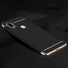 Custodia Lusso Metallo Laterale e Plastica Cover M01 per Xiaomi Redmi Note 7 Nero