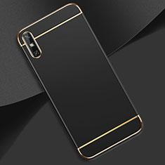 Custodia Lusso Metallo Laterale e Plastica Cover M02 per Huawei Enjoy 10e Nero