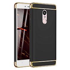 Custodia Lusso Metallo Laterale e Plastica Cover M02 per Xiaomi Redmi Note 4X High Edition Nero