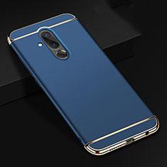 Custodia Lusso Metallo Laterale e Plastica Cover T01 per Huawei Mate 20 Lite Blu