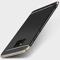 Custodia Lusso Metallo Laterale e Plastica Cover T01 per Huawei Mate 20 Pro Nero