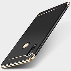 Custodia Lusso Metallo Laterale e Plastica Cover T01 per Huawei P30 Lite New Edition Nero