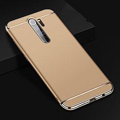 Custodia Lusso Metallo Laterale e Plastica Cover T01 per Xiaomi Redmi Note 8 Pro Oro