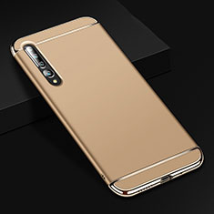 Custodia Lusso Metallo Laterale e Plastica Cover T02 per Xiaomi Mi 10 Pro Oro