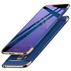 Custodia Lusso Metallo Laterale e Plastica M02 per Huawei G9 Plus Blu