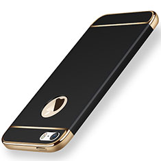 Custodia Lusso Metallo Laterale e Plastica per Apple iPhone 5 Nero