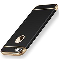 Custodia Lusso Metallo Laterale e Plastica per Apple iPhone SE Nero