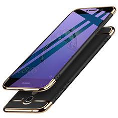 Custodia Lusso Metallo Laterale e Plastica per Huawei Enjoy 7 Plus Nero
