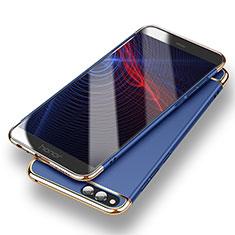 Custodia Lusso Metallo Laterale e Plastica per Huawei Honor 7X Blu