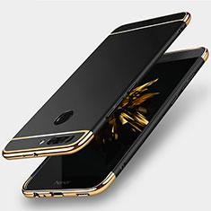 Custodia Lusso Metallo Laterale e Plastica per Huawei Honor V9 Nero