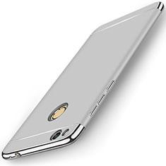Custodia Lusso Metallo Laterale e Plastica per Huawei P8 Lite (2017) Argento