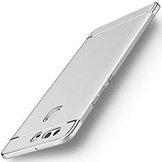 Custodia Lusso Metallo Laterale e Plastica per Huawei P9 Argento