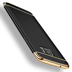 Custodia Lusso Metallo Laterale e Plastica per Samsung Galaxy S7 Edge G935F Nero