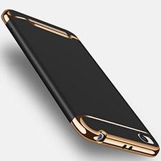 Custodia Lusso Metallo Laterale e Plastica per Xiaomi Redmi 4A Nero