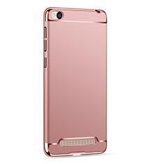 Custodia Lusso Metallo Laterale e Plastica per Xiaomi Redmi 4A Oro Rosa