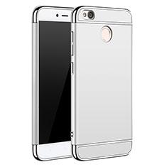 Custodia Lusso Metallo Laterale e Plastica per Xiaomi Redmi 4X Argento