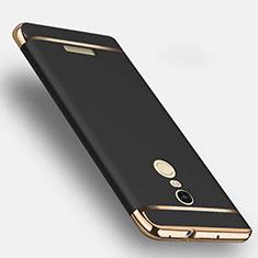 Custodia Lusso Metallo Laterale e Plastica per Xiaomi Redmi Note 3 MediaTek Nero