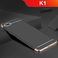 Custodia Lusso Metallo Laterale e Silicone Cover M02 per Oppo K1 Nero