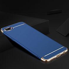 Custodia Lusso Metallo Laterale e Silicone Cover M02 per Oppo R17 Neo Blu