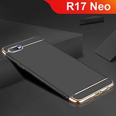 Custodia Lusso Metallo Laterale e Silicone Cover M02 per Oppo R17 Neo Nero