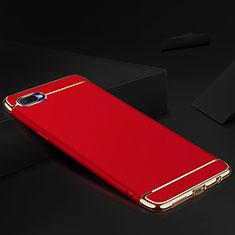 Custodia Lusso Metallo Laterale e Silicone Cover M02 per Oppo R17 Neo Rosso