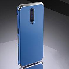 Custodia Lusso Metallo Laterale e Silicone Cover M02 per Oppo R17 Pro Blu