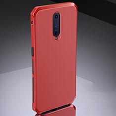 Custodia Lusso Metallo Laterale e Silicone Cover M02 per Oppo R17 Pro Rosso