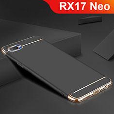 Custodia Lusso Metallo Laterale e Silicone Cover M02 per Oppo RX17 Neo Nero