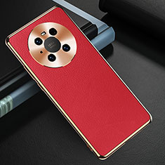 Custodia Lusso Pelle Cover K03 per Huawei Mate 40 Rosso