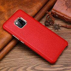 Custodia Lusso Pelle Cover L01 per Huawei Mate 20 RS Rosso