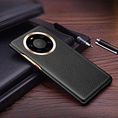 Custodia Lusso Pelle Cover L01 per Huawei Mate 40 Pro+ Plus Nero