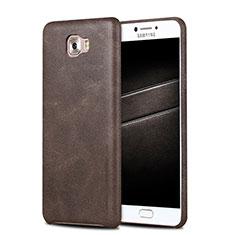 Custodia Lusso Pelle Cover L01 per Samsung Galaxy C5 Pro C5010 Marrone