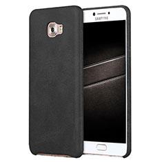 Custodia Lusso Pelle Cover L01 per Samsung Galaxy C7 Pro C7010 Nero