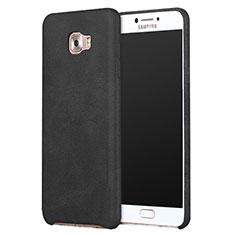 Custodia Lusso Pelle Cover L01 per Samsung Galaxy C9 Pro C9000 Nero