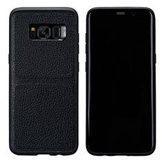 Custodia Lusso Pelle Cover L01 per Samsung Galaxy S8 Nero