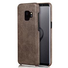 Custodia Lusso Pelle Cover L01 per Samsung Galaxy S9 Marrone