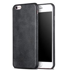 Custodia Lusso Pelle Cover L02 per Apple iPhone 6 Plus Nero