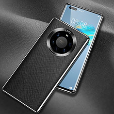 Custodia Lusso Pelle Cover L02 per Huawei Mate 40 Pro+ Plus Nero
