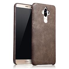 Custodia Lusso Pelle Cover L02 per Huawei Mate 9 Marrone