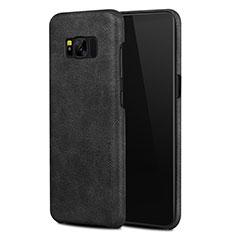 Custodia Lusso Pelle Cover L02 per Samsung Galaxy S8 Plus Nero