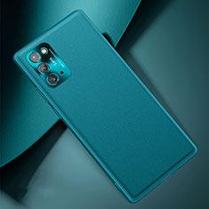 Custodia Lusso Pelle Cover N01 per Samsung Galaxy Note 20 5G Ciano