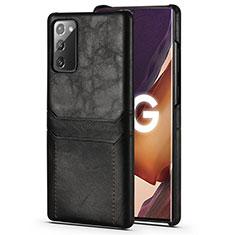 Custodia Lusso Pelle Cover N02 per Samsung Galaxy Note 20 5G Nero