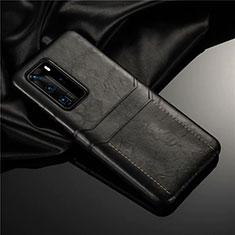 Custodia Lusso Pelle Cover N06 per Huawei P40 Pro Nero